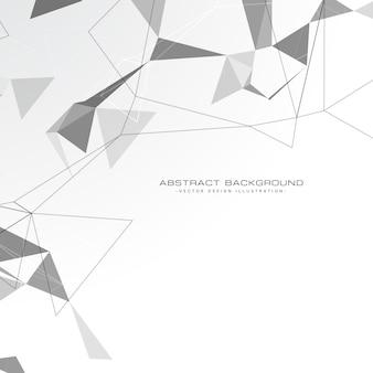 Witte abstracte driehoeken achtergrond
