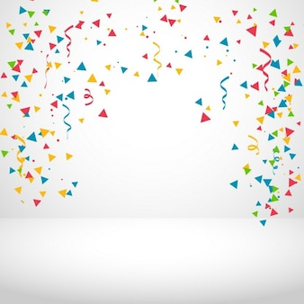 Witte achtergrond met kleurrijke confetti
