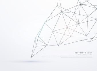 Witte achtergrond met veelhoekige lijnen