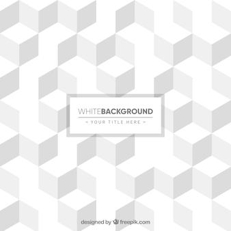 Witte achtergrond van kubussen