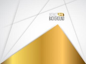 Witte en gouden abstracte achtergrond ontwerp