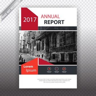 Witte en rode busiess brochure