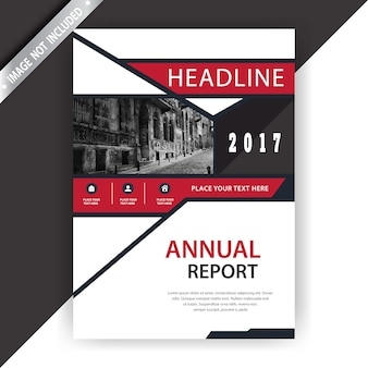 Witte en rode zakelijke brochure