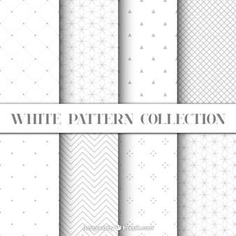 Witte kleur geometrische patronen set