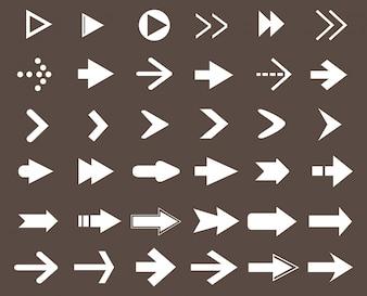 Witte pijlen collectie