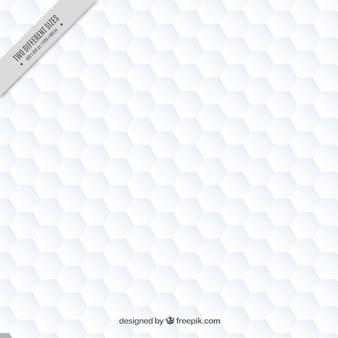 Witte zeshoeken achtergrond