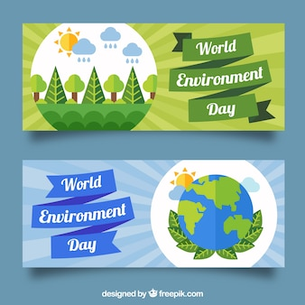 World Environmental Day banners