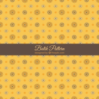 Yellow batik patroon