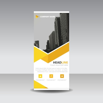 Yellow creatieve Roll up banner template