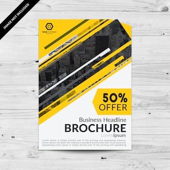 Zakelijke brochure met aanbod ontwerp
