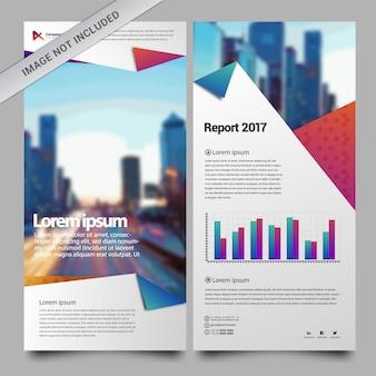 Zakelijke brochure papierontwerp