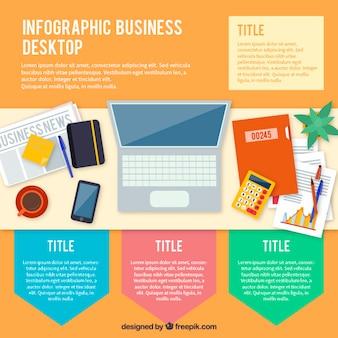 Zakelijke desktop infographics