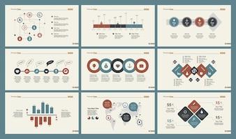 Zes Logistieke Grafieken Slide Templates Set