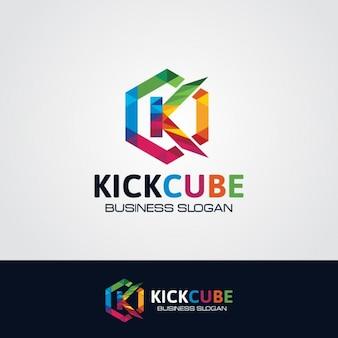 Zeshoekige logo van de letter K