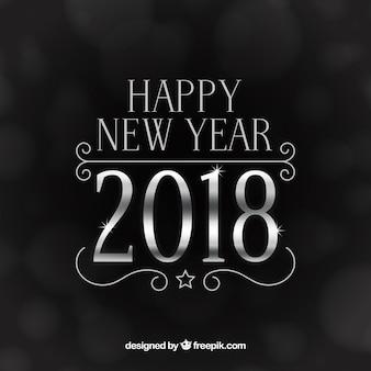 Zilver nieuwjaar 2018 achtergrond