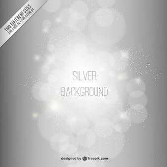 Zilveren bokeh achtergrond