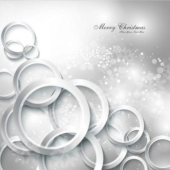 Zilveren Merry Christmas achtergrond
