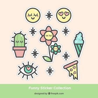 Zoete sticker collectie