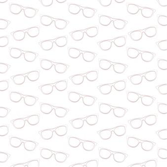 Zonnebrillen-lijn-art-vector