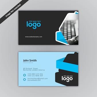Zwart en blauw visitekaartje