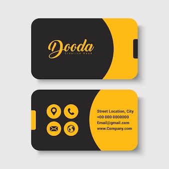 Zwart en geel visitekaartje sjabloon