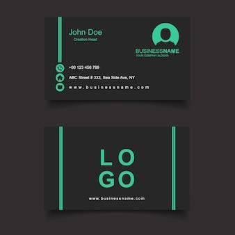 Zwart en groen visitekaartje