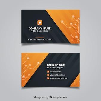 Zwart en oranje visitekaartje