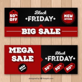 Zwart vrijdag banners ontwerp
