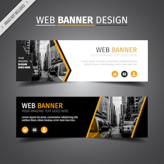 Zwart web banner design