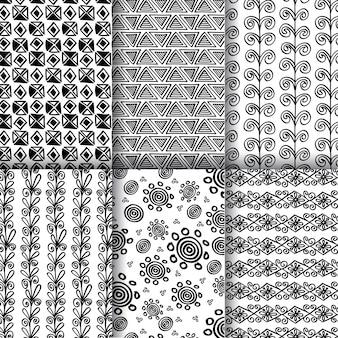 Zwart-wit lijn patroon Achtergronden
