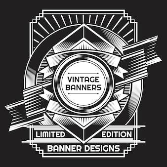 Zwart-witte vintage achtergrond