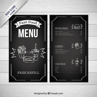 Zwarte Fast Food Menu Template