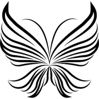 światło paski skrzydła motyla piękny design z widoku z góry