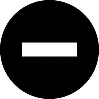 żaden znak wejścia w czarnym tle