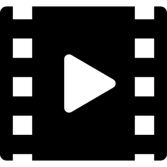 Bułka kino z symbolem gry