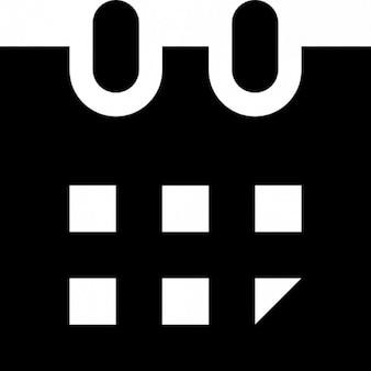 Czarno-biały szkic wektor calendar