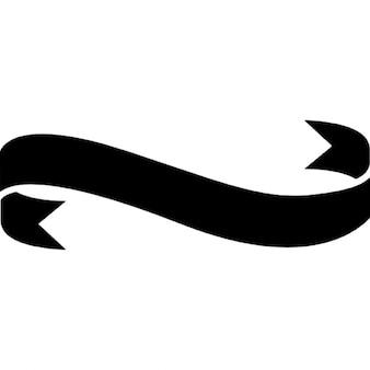 Czarny transparent wstążka