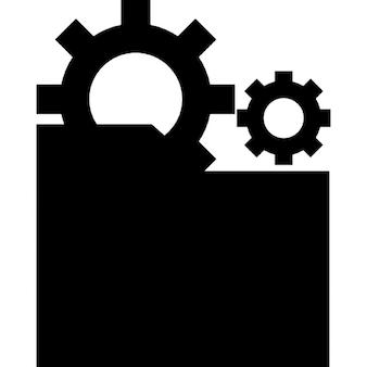 Folderów i dwa biegi w czarne sylwetki