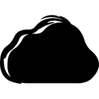 ICloud symbol naszkicowanych wariant