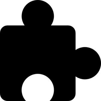 Kawałek układanki czarny kształt granicy