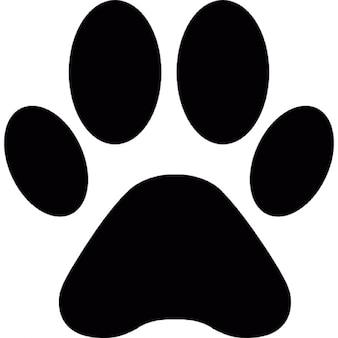 Kształt animal print paw