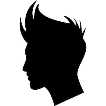 Kształt chłopak włosy