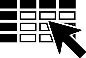 Kursor kwadraty wyborze