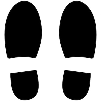 Lewy i prawy but footprints