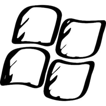 Okna zarysowane logo