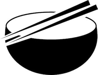 Oriental miskę i pałeczki
