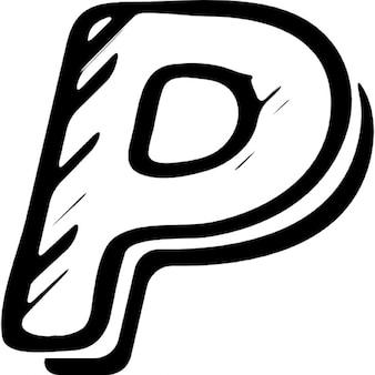 Paypal zarysowane logo wariant