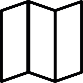 Potrójny złożony papier