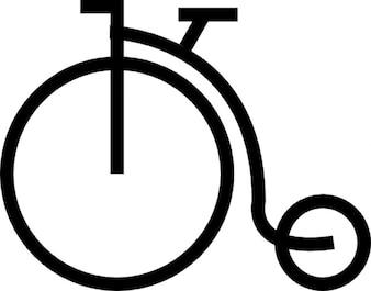 Rocznika rower z dużym kołem
