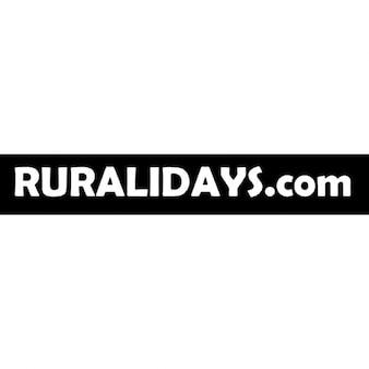 Ruralidays.com logo z czarnym prostokątnym tle